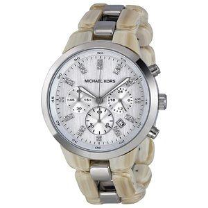 Michael Kors Showstopper Chronograph Horn watch